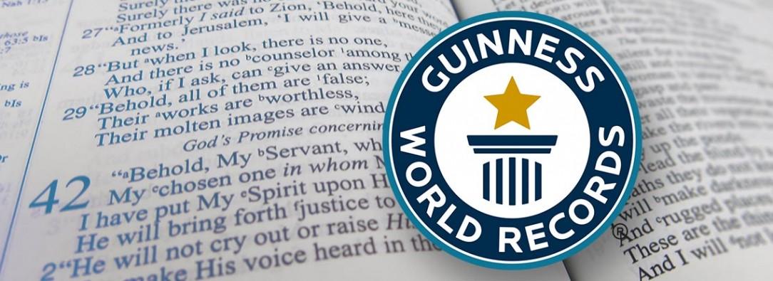 Record, World, Guinness, Preaching, Zach, Zehnder, The Cross