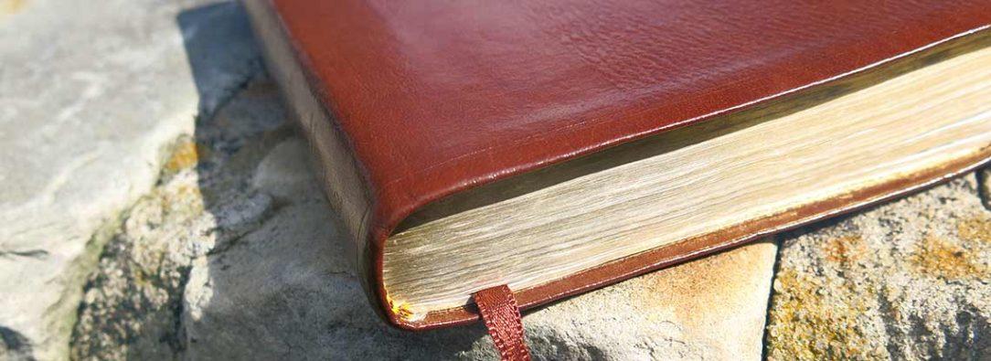 Bible on Ledge